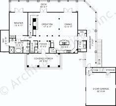 house plans with rear view apartments lakefront home plans rustic lake empty nester house