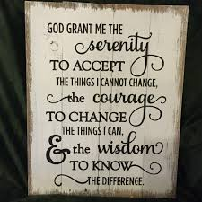 god grant me serenity prayer inspirational wood sign canvas wall