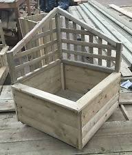 wooden planters with trellis ebay