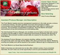 grocery store cashier job description tfm assistant produce manager job openings in guilford ct
