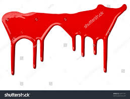 Red Paint by Close Red Paint Leaking On White Stock Photo 72977170 Shutterstock