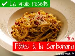 la vraie cuisine italienne vraie recette des pâtes à la carbonara