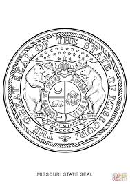 Missouri State Map Missouri State Seal Coloring Page Free Printable Coloring Pages