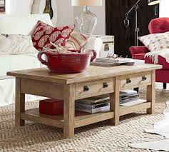 benchwright rectangular coffee table seadrift pottery barn