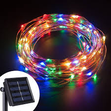 Solar Powered Outdoor Led String Lights by Led Copper Wire String Lights Blue Promotion Shop For Promotional