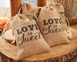 burlap wedding favor bags rustic wedding favors decor kate aspen