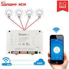 google home automation lights itead sonoff 4ch wifi smart switch 4 gang wifi light switch smart