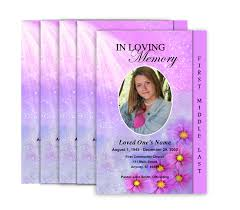 printing funeral programs 2 page graduated memorial service programs design professional