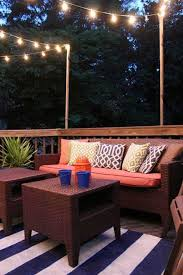 Outdoor Deck String Lighting Ideas Patio Lights Woohome Including