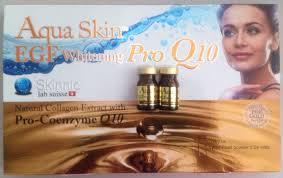 aqua skin egf gold aqua skin egf whitening pro q10 glutabest