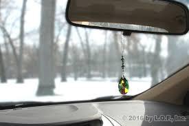 bling colorful pear gem rear view mirror car charm
