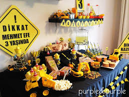 Construction Themed Centerpieces by Parti Inşaat Masası Construction Themed Birthday Party