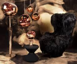 melt floor lamp copper by tom dixon