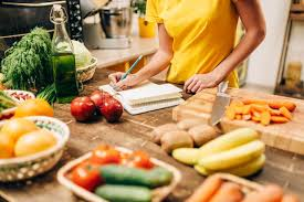 bio cuisine person cooking on the kitchen bio food stock photo image