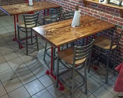 Bar Height Conference Table Industrial Conference Table Industrial Table With Metal