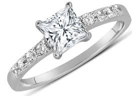princess cut engagement rings white gold 1 carat princess cut engagement ring in 10k white gold