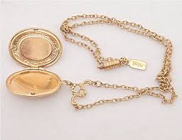 long locket pendant necklace images Lilly 39 s vintage jewelry signed necklaces JPG