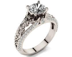 art deco engagement ring estate jewelry filigree