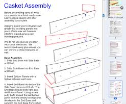 how to build a coffin the sandler all wood casket kit plan build caskets coffins