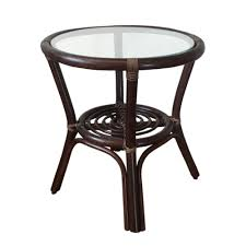 round small coffee table diana 19 u0027 u0027 color dark brown with glass