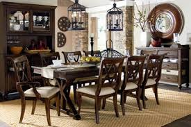 9 piece rustic cottage formal dining set