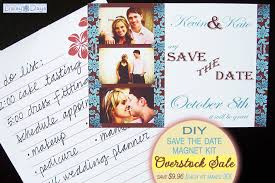 Magnetic Save The Dates Overstock Sale Diy Save The Date Magnet Kit