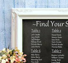 wedding seating chart ideas wedding seating chart ideas decorations chalkboard framed