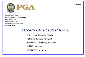 golf gift certificate template clear and best samples templates