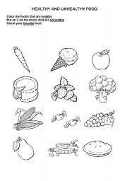 healthy u0026 unhealthy foods identification