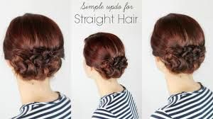 Easy Dressy Hairstyles For Long Hair by Simple Updo For Straight Hair Youtube