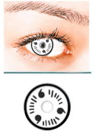 white itachi crazy halloween contacts pair wi 24 99 cheap