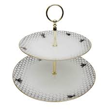 two tier cake stand bees around edge two tier cake stand kitchen dining rory dobner