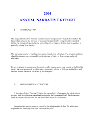 report writing sample for students annual narrative report a sample teachers educational technology