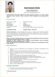 Resume For Admin Job by 8 Sample Of Curriculum Vitae For Job Application Pdf Basic Job