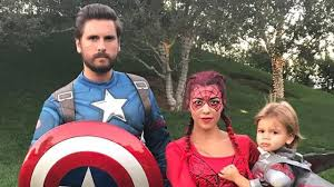 kourtney kardashian and scott disick dress up as u0027avengers u0027 with