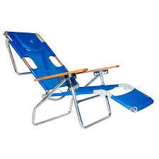 Fully Reclining Beach Chair Amazon Com Ostrich 3 N 1 Beach Chair Lounger Color Blue 3n1