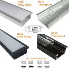 light mounting clips u03 10x30mm u shape internal width 20mm led aluminum channel system