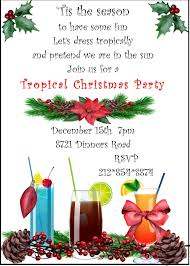 christmas cocktail party invitations christmas holiday tropical party invitations 2017