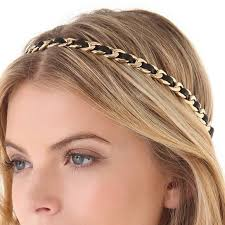 chain headband 57 couture accessories couture leather chain
