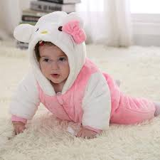 white rabbit winter type unisex playsuits romper toddlers jumpsuit