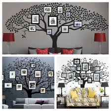 home design family tree wall decal with frames beadboard