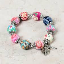 rosary bracelet multi color rosary bracelet the catholic company