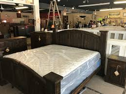 mansion rustic reclaimed wood dark style bedroom set cheap