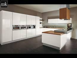 Maple Wood Kitchen Cabinets Kitchen White Polished Maple Wood Kitchen Cabinet Brown Granite