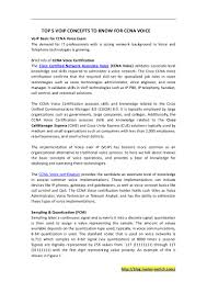 Sample Resume For Ccna Certified Top 5 Voip Concepts To Know For Ccna Voice