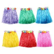 10 color 1pc plastic fibers children grass skirts hula skirt