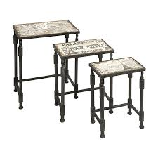 french design table charming shop imax worldwide knoxlin 3 piece french design