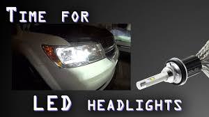how to install led lights in car headlights upgrade any car diy led headlight bulb install bright white safe
