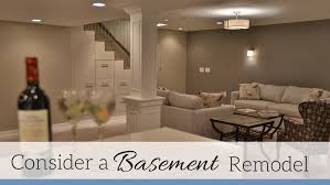 wasted space under your feet consider a basement remodel