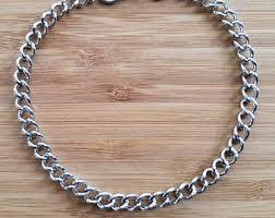 mens silver bracelet chain images Mens chain bracelet etsy jpg